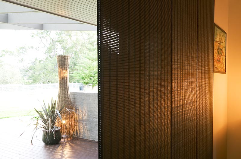 woven timber panel blind