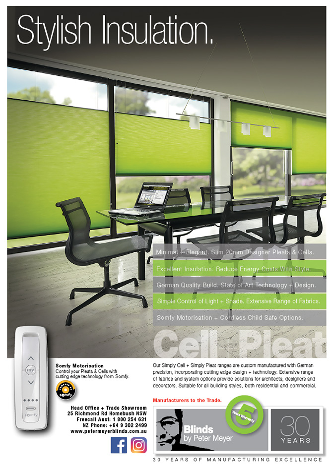 Cell + Pleat blinds - stylish insulation