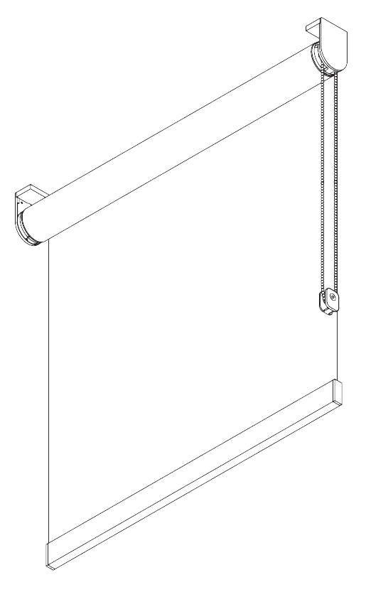 chain operated roller blind diagram