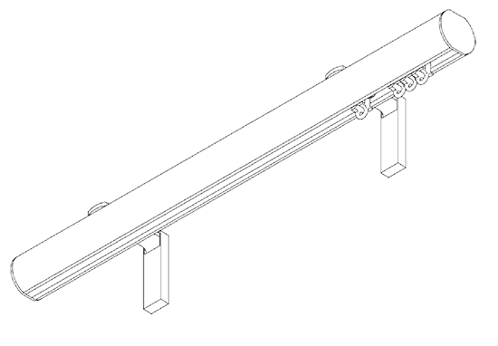 hand operated curtain pole diagram
