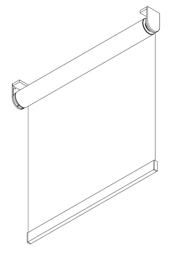 motorised roller blind diagram