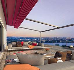 Plaza Viva textile patio roof
