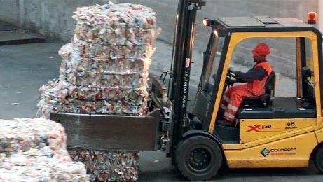 pet bottles sorted