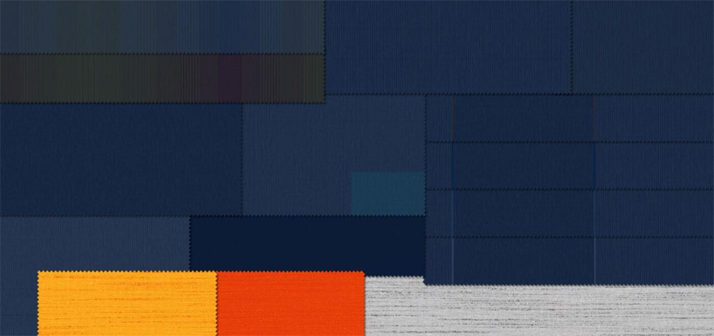 Modern Basics Blue | Plain Linen Like Designs