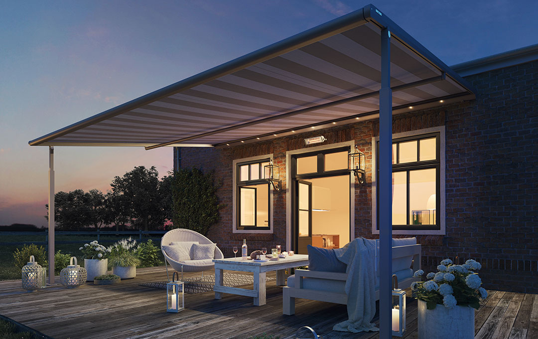 Textile Pergola Awning Plaza Viva Retractable Roof By