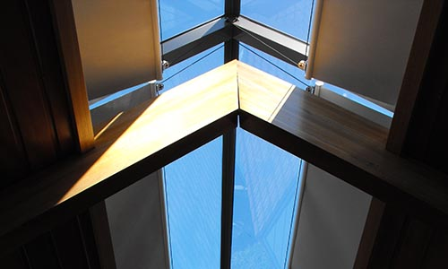 opening skylight blinds