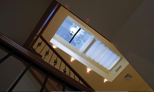 roman blind on skylight