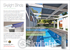Skylight Blinds brochure