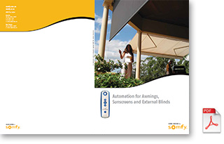 Automation for Awnings, Sunscreen & External Blinds brochure