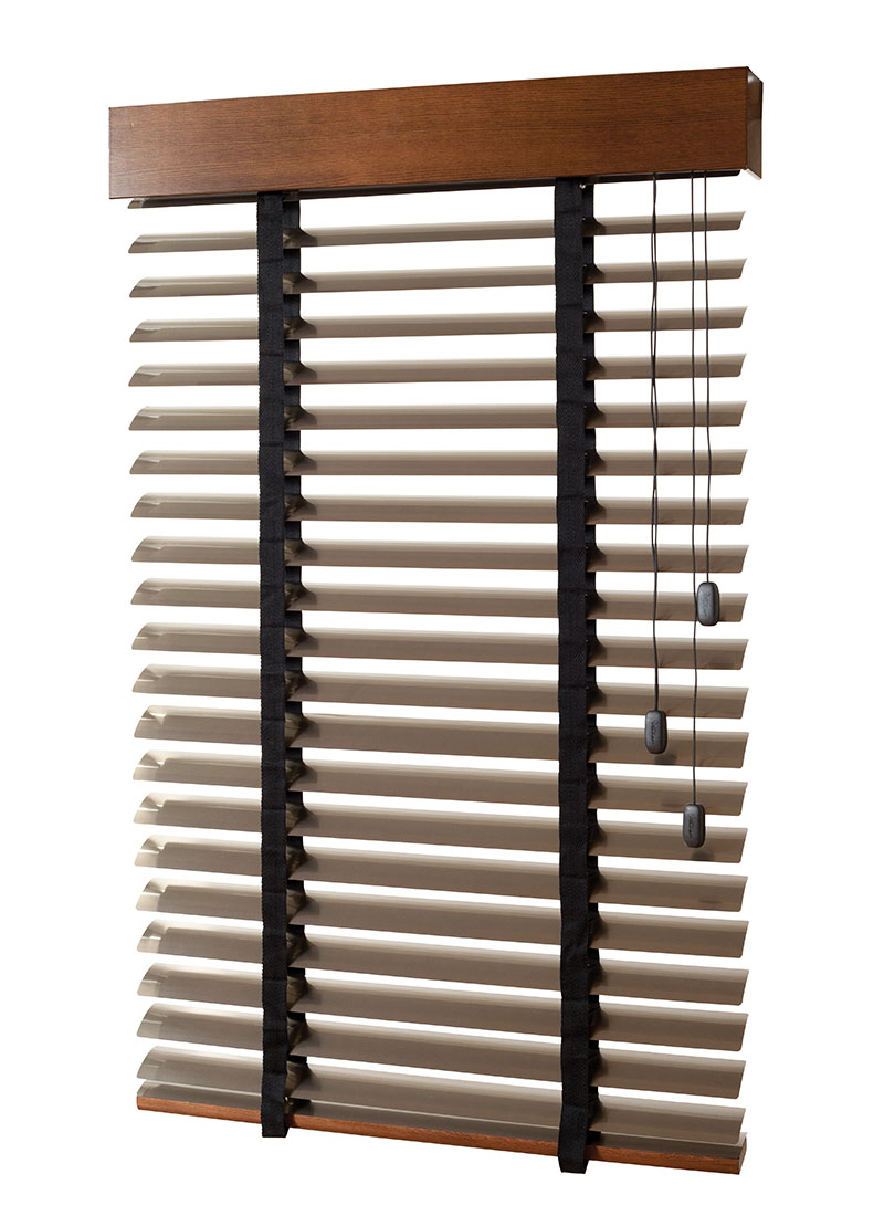aluminium blinds with timber baserail