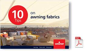 Weinor 10 tips for selecting fabrics