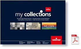 Weinor fabrics range brochure
