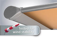 tested for wind stability